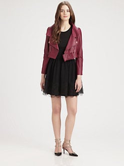 RED Valentino - Cropped Leather Jacket