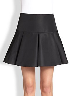RED Valentino - Faille Pleated Skirt