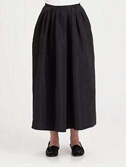RED Valentino - Long Faille Skirt