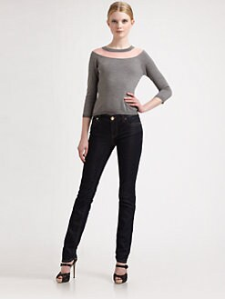 RED Valentino - Point d'Esprit/Merino Wool Sweater