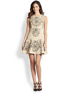 RED Valentino - Jewel-Print Dress