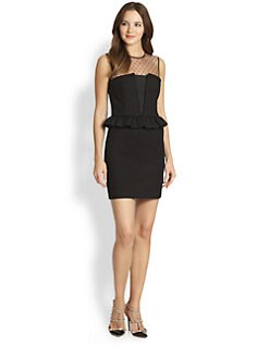 RED Valentino - Stretch Cotton Peplum Dress