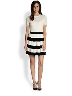 RED Valentino - Pleated Knit Dress
