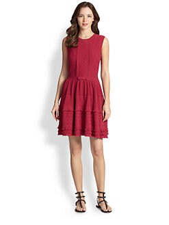 RED Valentino - Sleeveless Embroidered Dress