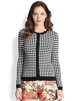 RED Valentino - Gingham Cardigan