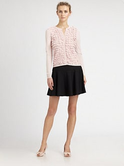 RED Valentino - Ruffle-Front Cardigan Sweater