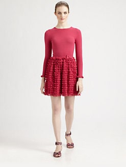 RED Valentino - Ruffle/Bow-Detail Dress