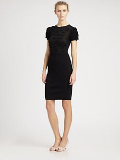 RED Valentino - Merino Wool Bow Sweaterdress