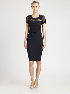 RED Valentino - Macrame Jersey Dress
