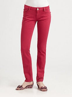 RED Valentino - Cherry Stretch Denim Jeans