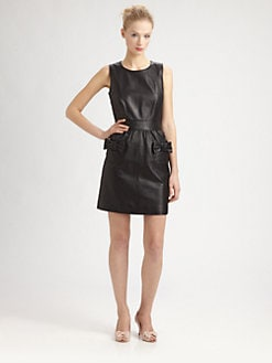 RED Valentino - Matte-Leather Sheath Dress