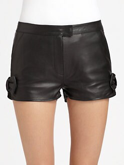 RED Valentino - Leather Shorts