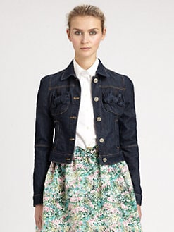 RED Valentino - Bow-Detail Denim Jacket