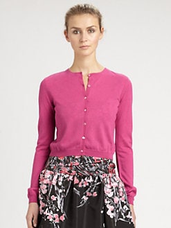 RED Valentino - Cropped Cashmere Cardigan
