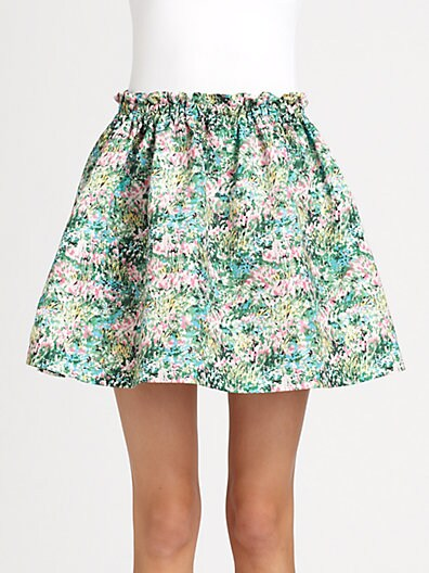 RED Valentino Meadow Print Skirt at Saks Fifth Avenue image