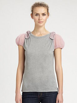 RED Valentino - Modal Bow-Sleeve Top