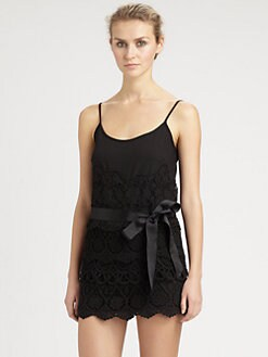 RED Valentino - Short Lace Jumpsuit