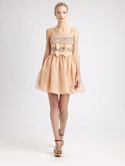 RED Valentino - Embellished Tank Dress