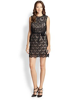 RED Valentino - Macramé Owl Shift Dress