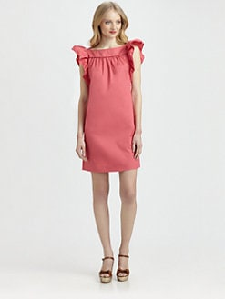 RED Valentino - Ruffle-Sleeve Dress