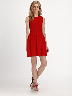RED Valentino - Cotton Wave-Knit Dress