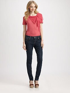 RED Valentino - Point D'Esprit-Bow Tee