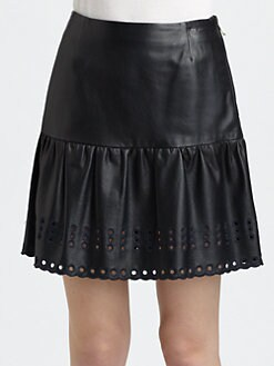 RED Valentino - Leather Skirt
