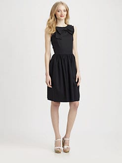 RED Valentino - Stretch Poplin Bow Dress