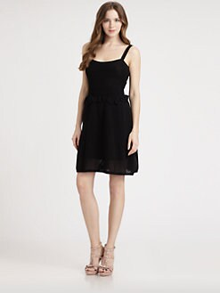 RED Valentino - Cotton Mesh Dress