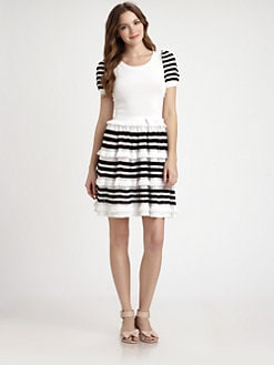 RED Valentino - Cotton Crochet Dress