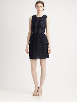 RED Valentino - Organza Ruffle-Front Dress