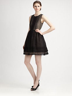 RED Valentino - Chamomile Silk Organza Dress