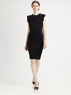 RED Valentino - Bow/Ruffle Body-Con Dress