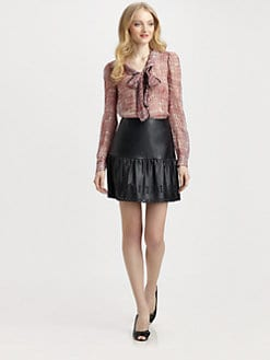 RED Valentino - Silk Anchor-Print Blouse
