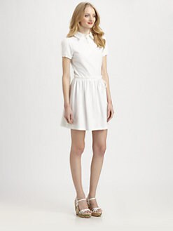 RED Valentino - Cotton Jersey Tennis Dress