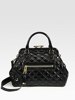Marc Jacobs - Stam Patent Python Embossed Leather Satchel