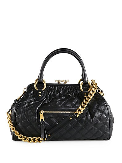 Stam Quilted Leather Chain Shoulder Bag