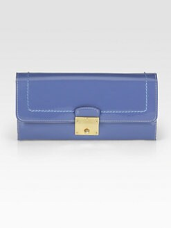 Marc Jacobs - Double Groove Patent Leather Continental Wallet
