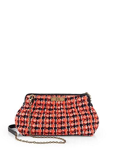 Tweed Big Pouch Crossbody Bag