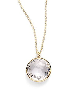 IPPOLITA - Clear Quartz & 18K Yellow Gold Necklace