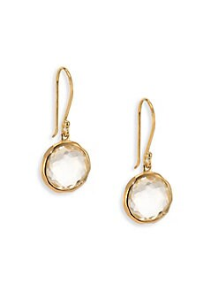 IPPOLITA - Clear Quartz & 18K Yellow Gold Earrings