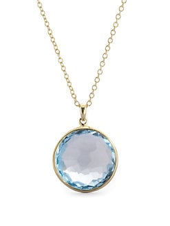 IPPOLITA - Blue Topaz & 18K Yellow Gold Necklace