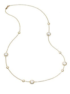 IPPOLITA - Clear Quartz & 18K Gold Station Necklace