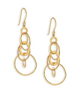 IPPOLITA - 18K Gold Multi-Link Drop Earrings