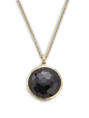 Rock Candy Lollipop Black Onyx & 18K Yellow Gold Pendant Necklace
