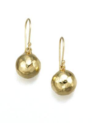 Glamazon 18K Yellow Gold Mini Ball Drop Earrings