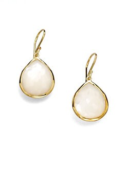 IPPOLITA - 18K Gold Mother-of-Pearl Drop Earrings