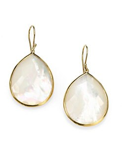 IPPOLITA - Mother-Of-Pearl & 18K Gold Drop Earrings