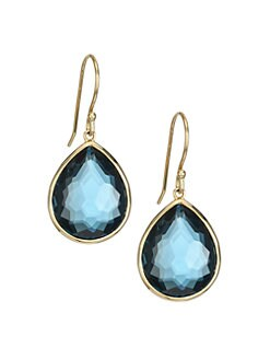 IPPOLITA - London Blue Topaz & 18K Yellow Gold Earrings