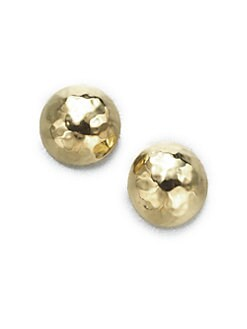 IPPOLITA - 18K Yellow Gold Button Earrings/Small